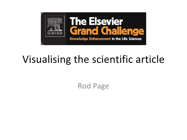 Visualising the scientific article               Rod Page
