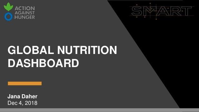 GLOBAL NUTRITION DASHBOARD Jana Daher Dec 4, 2018