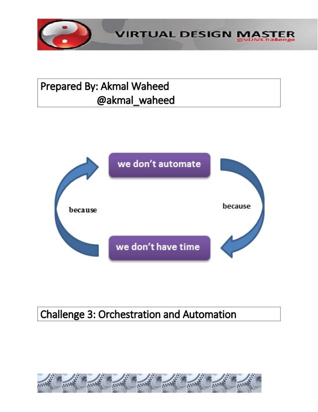 Prepared By: Akmal Waheed @akmal_waheed Challenge 3: Orchestration and Automation