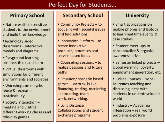 The perfect educational system: The perfect system for a perfect society