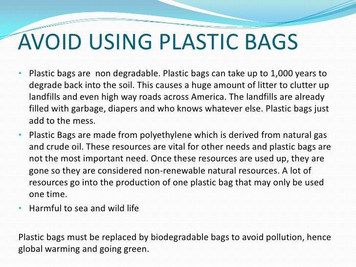 Essay on avoid plastics as far as possible