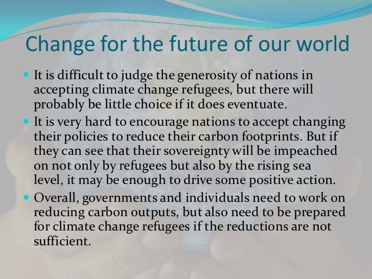 [Challenge:Future] Climate Change Refugees