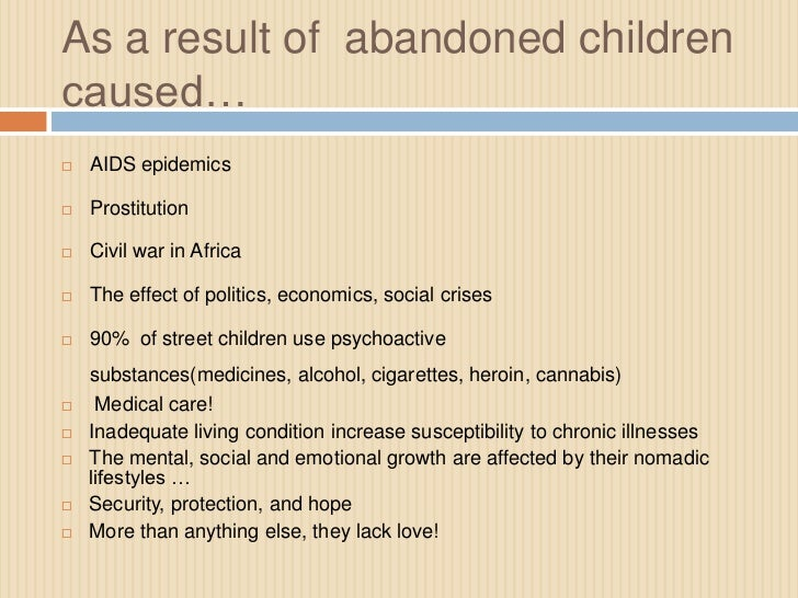 effects of street children on society
