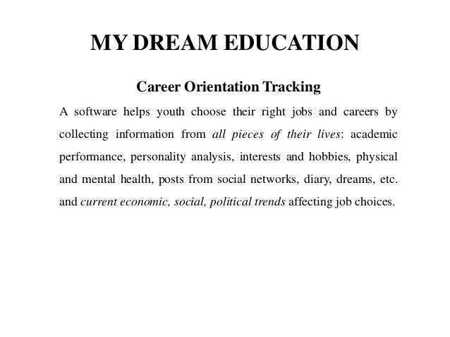 dream career essay paper