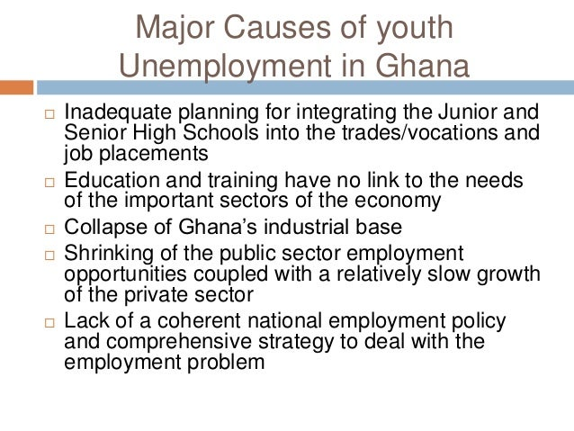 causes of unemployment among the youth Unemployment among youth aged 18 to 24 is a cause for concern in the country, increasing from 344 per cent at the end of april last year to 385 per cent at the end of april this year the unemployment rate for young men is now 301 per cent compared to females 27 per cent.