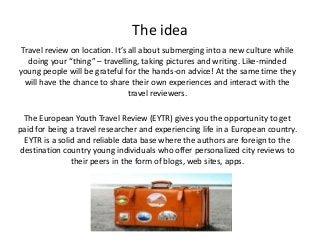 Challenge:Future] The European Youth Travel Review