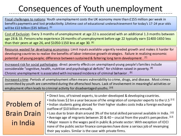 consequences of unemployment on society The cost of unemployment to the economy the society and the country some of the worst effects of unemployment are both subtle and very long-lasting.