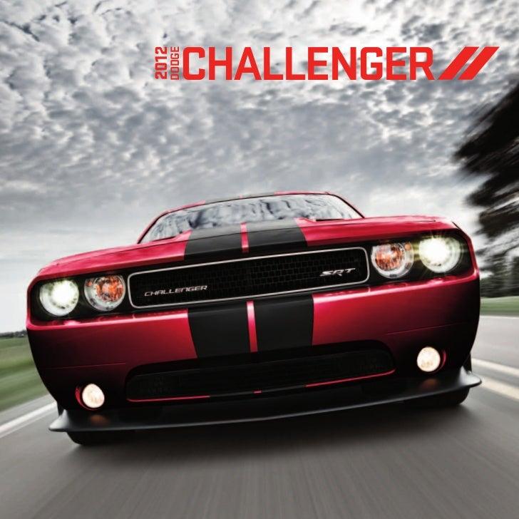 2012 Dodge Challenger EBrochure