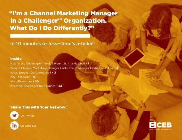 Challenger Channel Marketer Role Guide