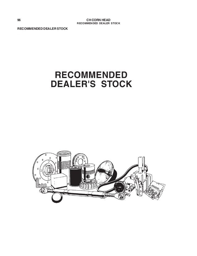 Challenger corn head parts manual