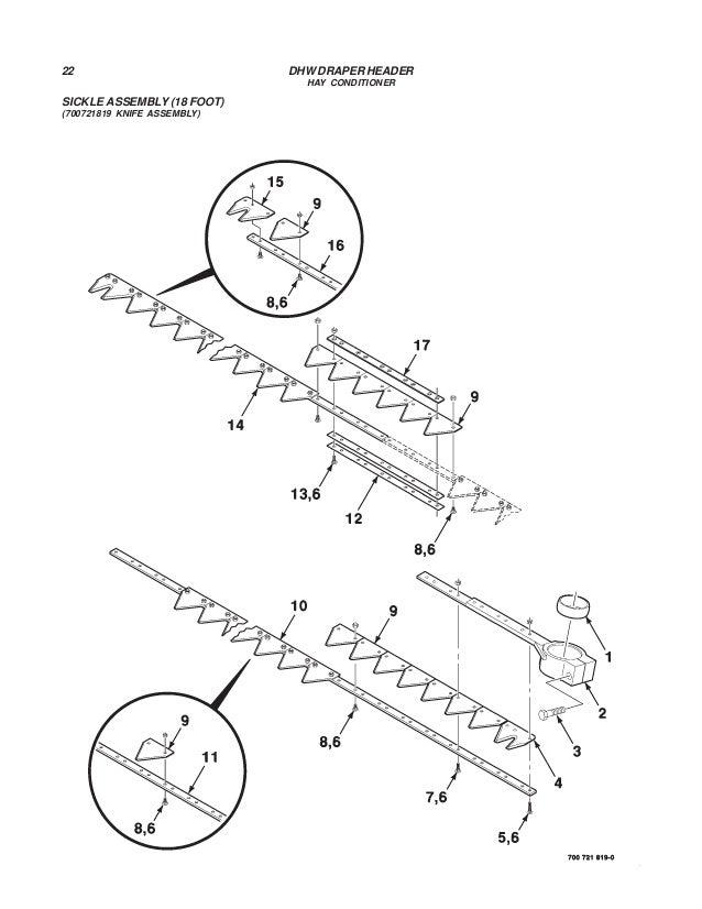 Challenger Dhw Draper Header Parts Manual