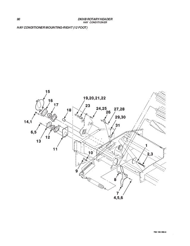 Challenger dkhb rotary header parts manual