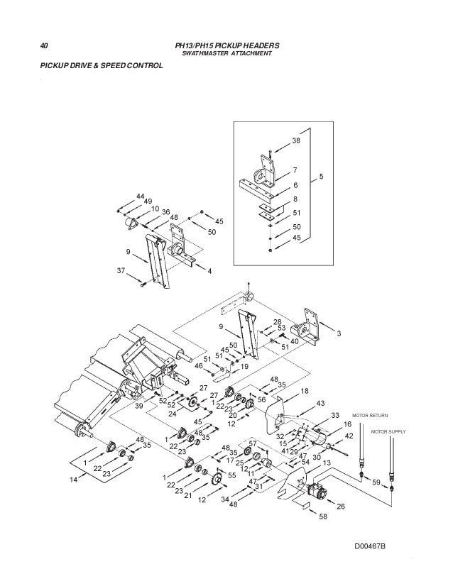 Challenger ph13 ph15 pickup headers parts manual