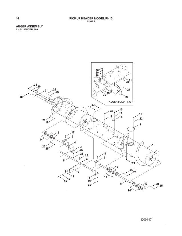 Challenger ph13 pickup header parts manual