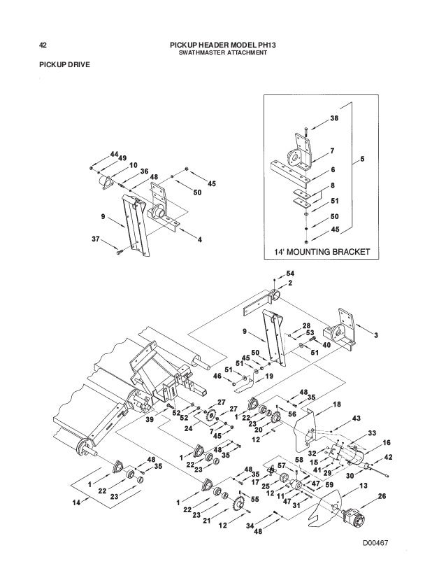 Challenger ph13 pickup header parts manual
