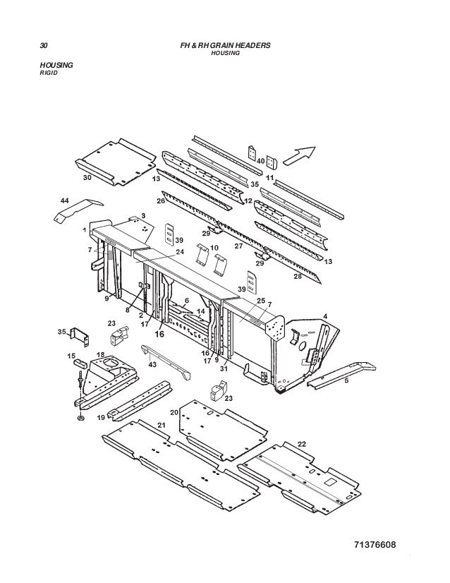Challenger rh&fh grain headers parts manual