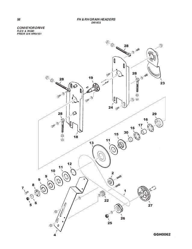 Challenger rh&fh grain headers parts manual