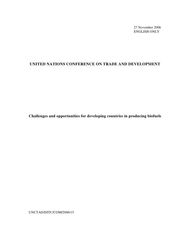27 November 2006                                                            ENGLISH ONLY     UNITED NATIONS CONFERENCE ON ...