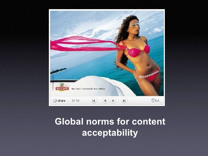 Global norms for content acceptability