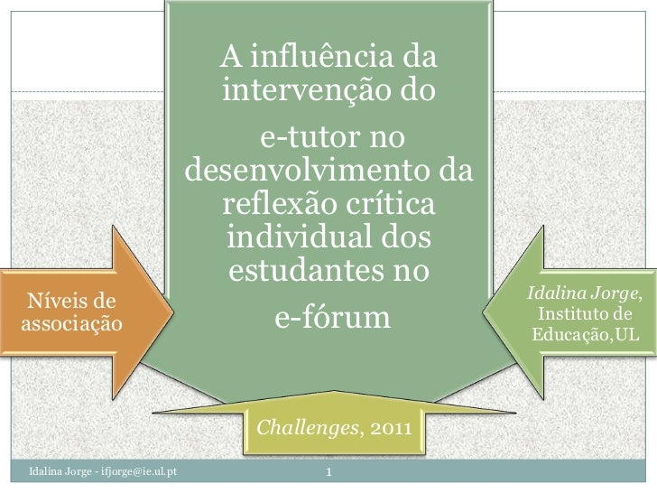 Idalina Jorge - ifjorge@ie.ul.pt<br />1<br />
