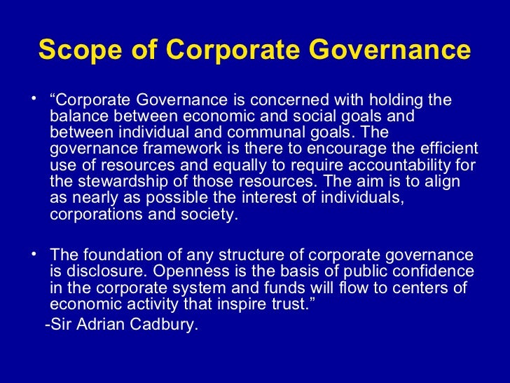 the problems and issues in corporate governance Description of the corporate governance problem,  corporate activities and insuring corporate finance in  for confronting the corporate governance issue,.