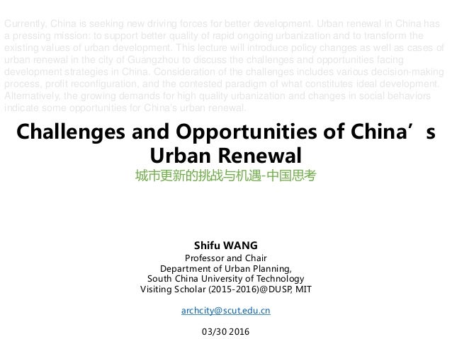 challenges and opportunities in urban area The world bank group works in every major area of  challenges and opportunities analyzes the evolution  growth has been pro-poor but the urban-rural gap in.