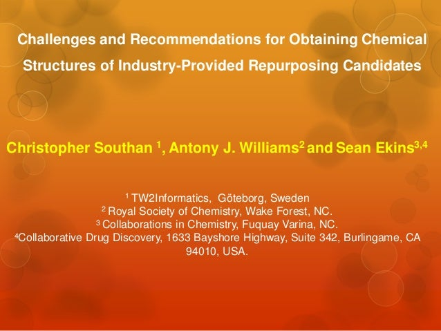 Challenges and Recommendations for Obtaining Chemical  Structures of Industry-Provided Repurposing CandidatesChristopher S...
