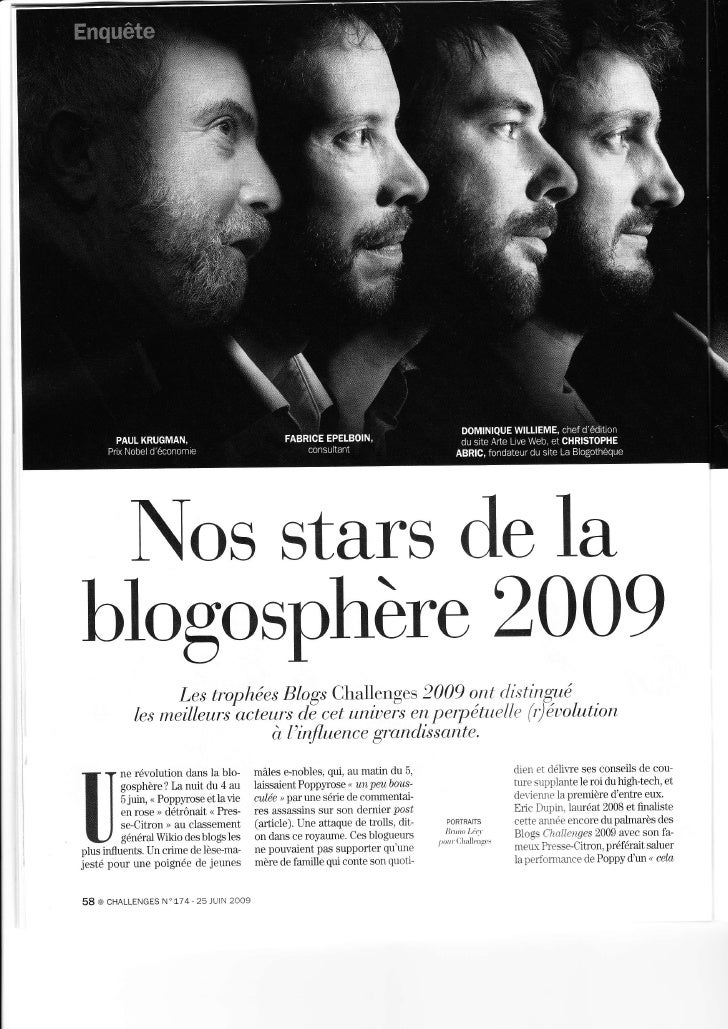 Nosstarsdela           2009 blogosphère                  Les trophées Blogs Challenges     2009 oltt d.i,stirtgyé.        ...