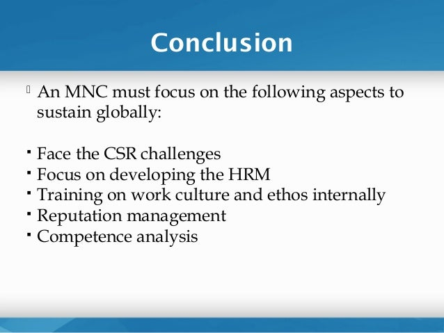 problems faced by mncs