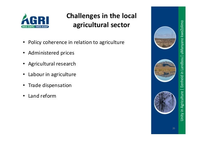 is the agricultural sector facing a That the agrarian sector has a strong rural base hence, concern for agriculture  and rural development  agriculture is faced with fundamental changes human .