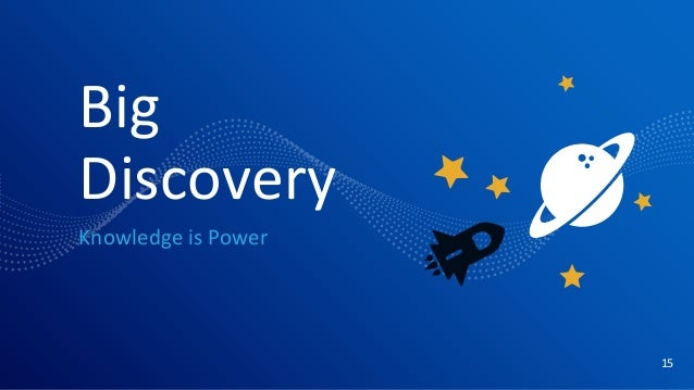 Big Discovery Knowledge is Power 15
