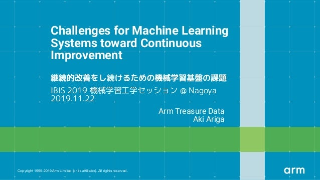 Copyright 1995-2019 Arm Limited (or its affiliates). All rights reserved. Challenges for Machine Learning Systems toward Con...
