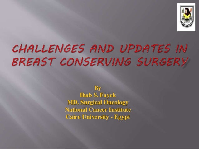By Ihab S. Fayek MD. Surgical Oncology National Cancer Institute Cairo University - Egypt