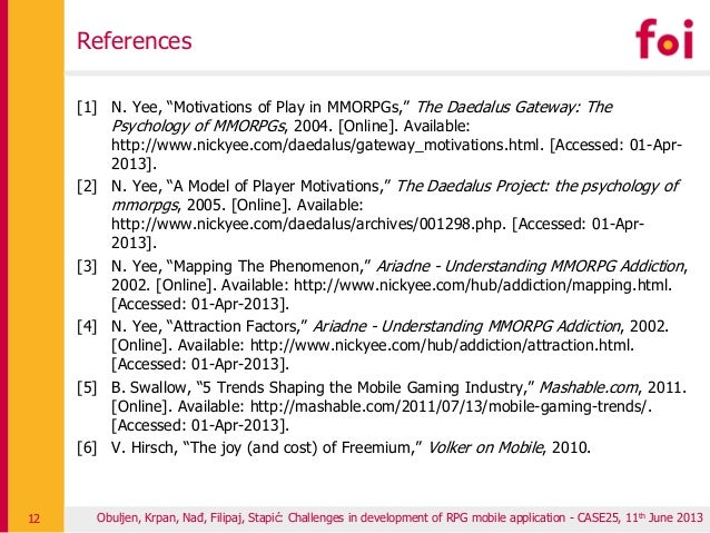Understanding Addiction to MMORPGs