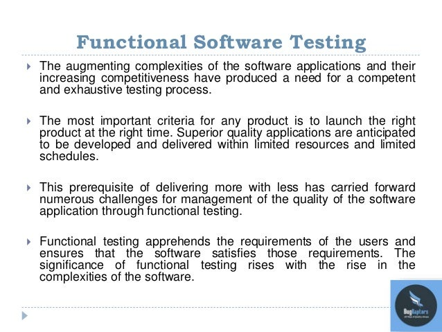 The RealLife Challenges In Functional Software Testing - Software testing requirements