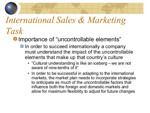 the challenges of international marketing Product issues in international marketing products and services some marketing scholars and professionals tend to draw a strong distinction between conventional products and services, emphasizing service characteristics such as heterogeneity.