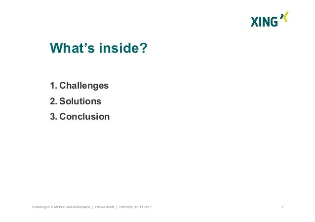 Challenges in mobile test automation - 2011 Slide 3