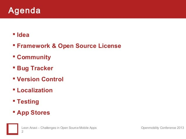 Challenges in Open Source Mobile Apps Slide 2
