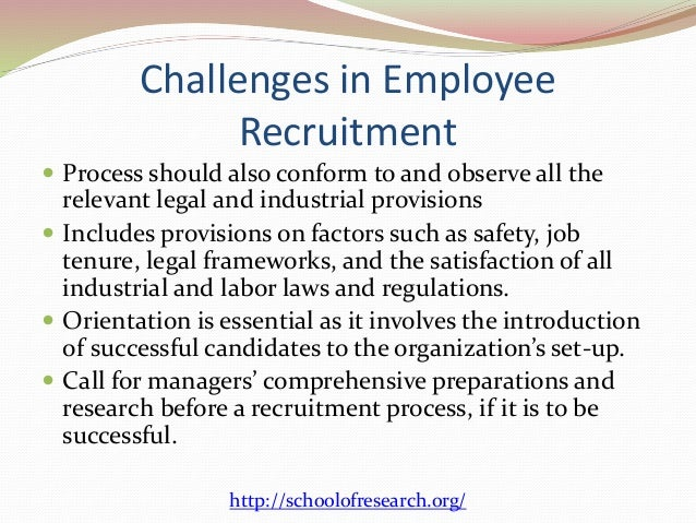 the process of recruiting managers on the internet Of course, the internet has become the leading venue for posting job openings, but don't overlook targeted industry publications and local newspapers 5 develop a series of phone-screening questions compile a list of suitable questions you can ask over the phone to help you quickly identify qualified candidates and eliminate everyone else 6.