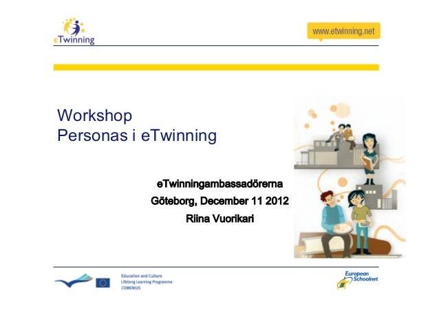WorkshopPersonas i eTwinning