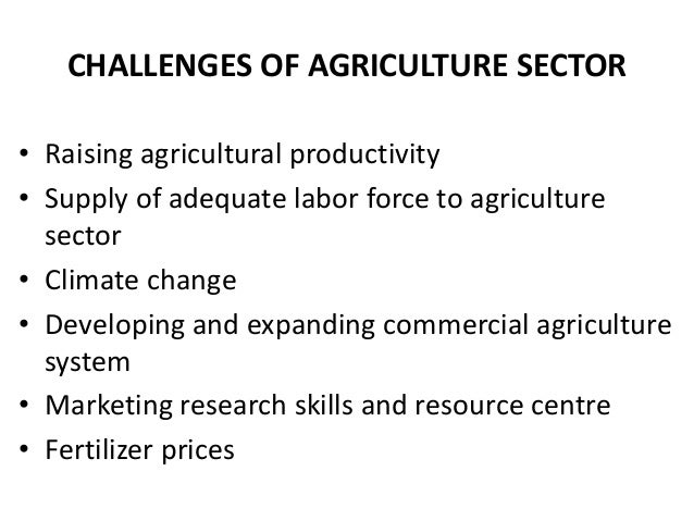 Policy challenges in agriculture sector and way forward