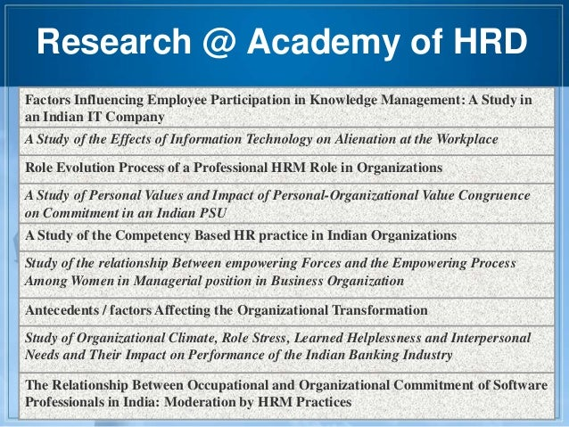 factors affecting hrm