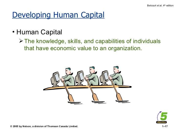 Developing Human Capital <ul><li>Human Capital </li></ul><ul><ul><li>The knowledge, skills, and capabilities of individual...