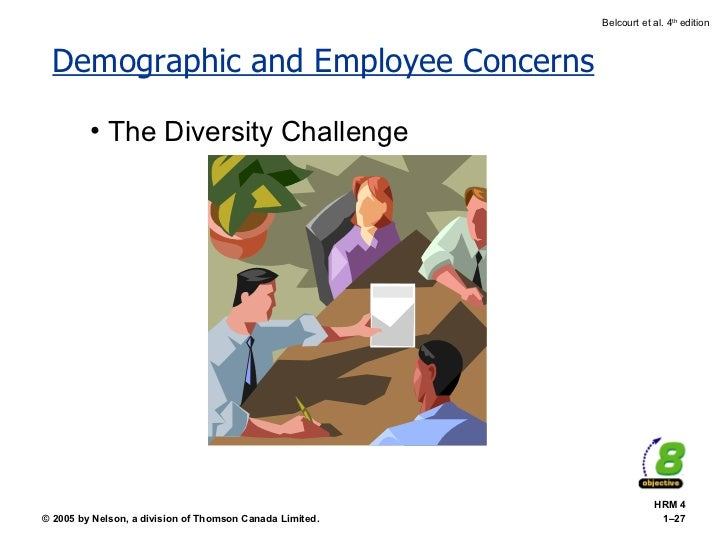 Demographic and Employee Concerns <ul><li>The Diversity Challenge </li></ul>HRM 4