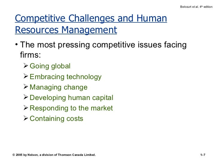 current issues in human resource management 2018