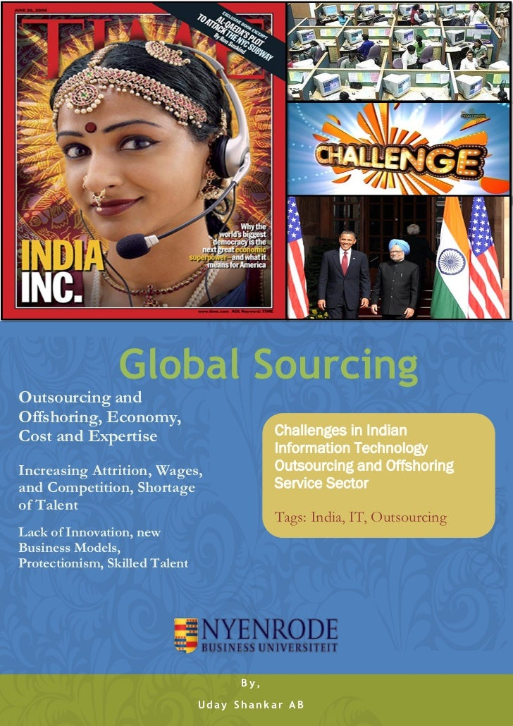 Global SourcingOutsourcing andOffshoring, Economy,Cost and Expertise                          Challenges in Indian        ...