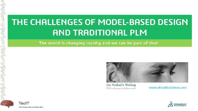 The Challenges of model based and traditional plm Slide 1