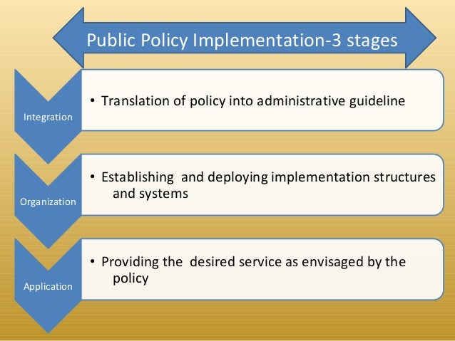 Improving policy implementation