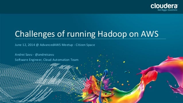 Headline Goes Here Speaker Name or Subhead Goes Here DO NOT USE PUBLICLY PRIOR TO 10/23/12 Challenges of running Hadoop on...