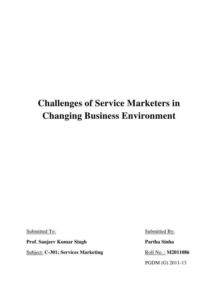 External business environment analysis?
